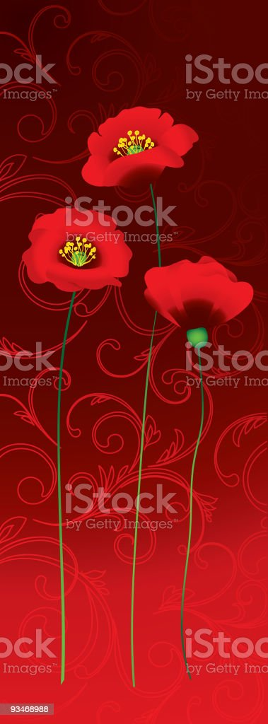 Poppy background royalty-free stock vector art