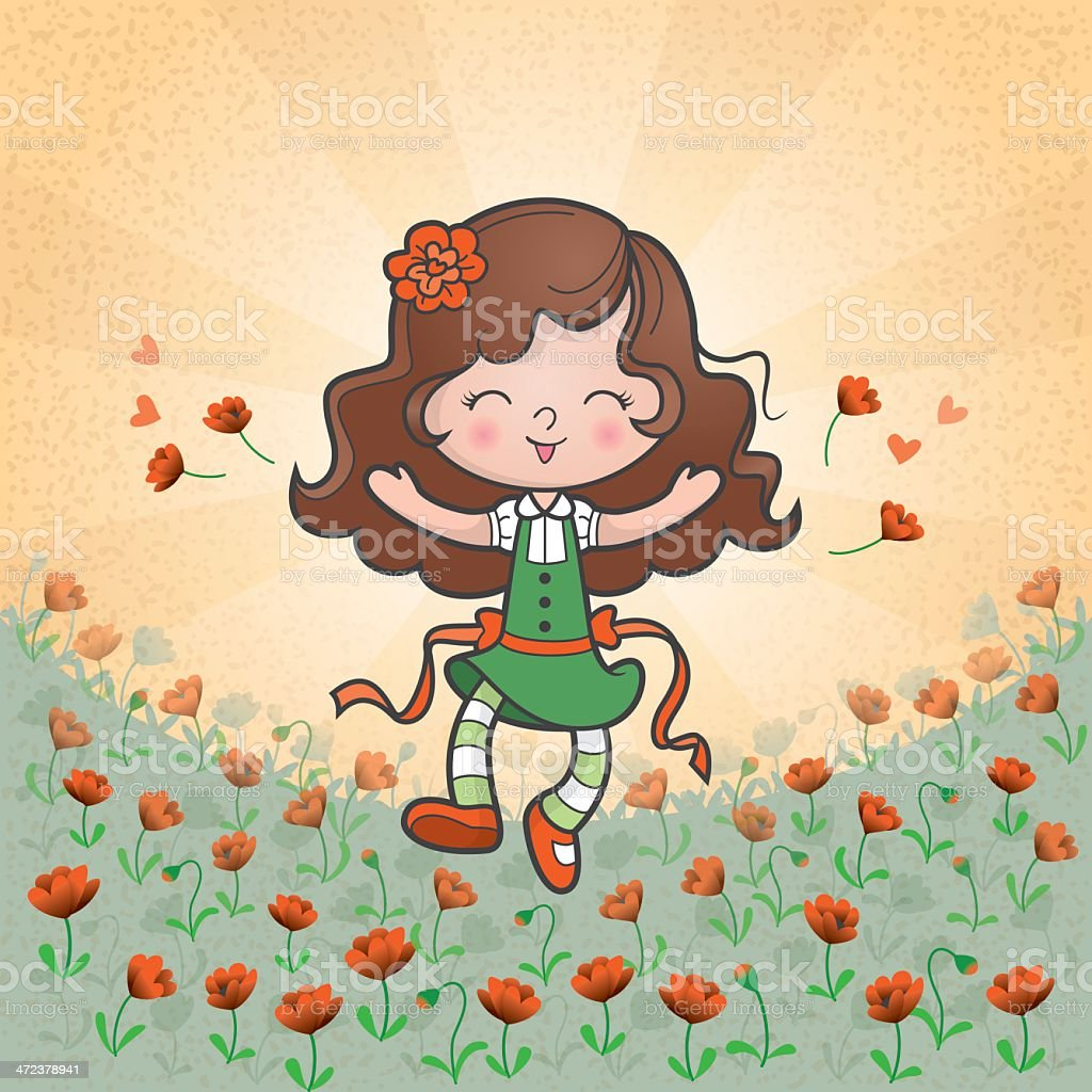 Poppy field royalty-free stock vector art
