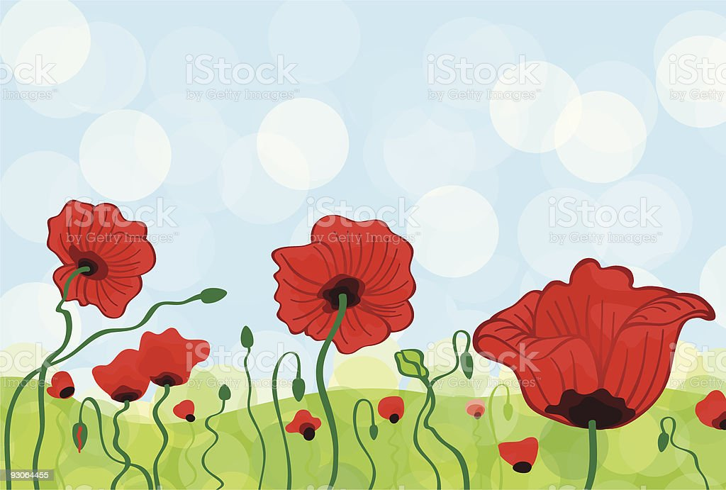 Poppy Field royalty-free poppy field stock vector art & more images of backgrounds