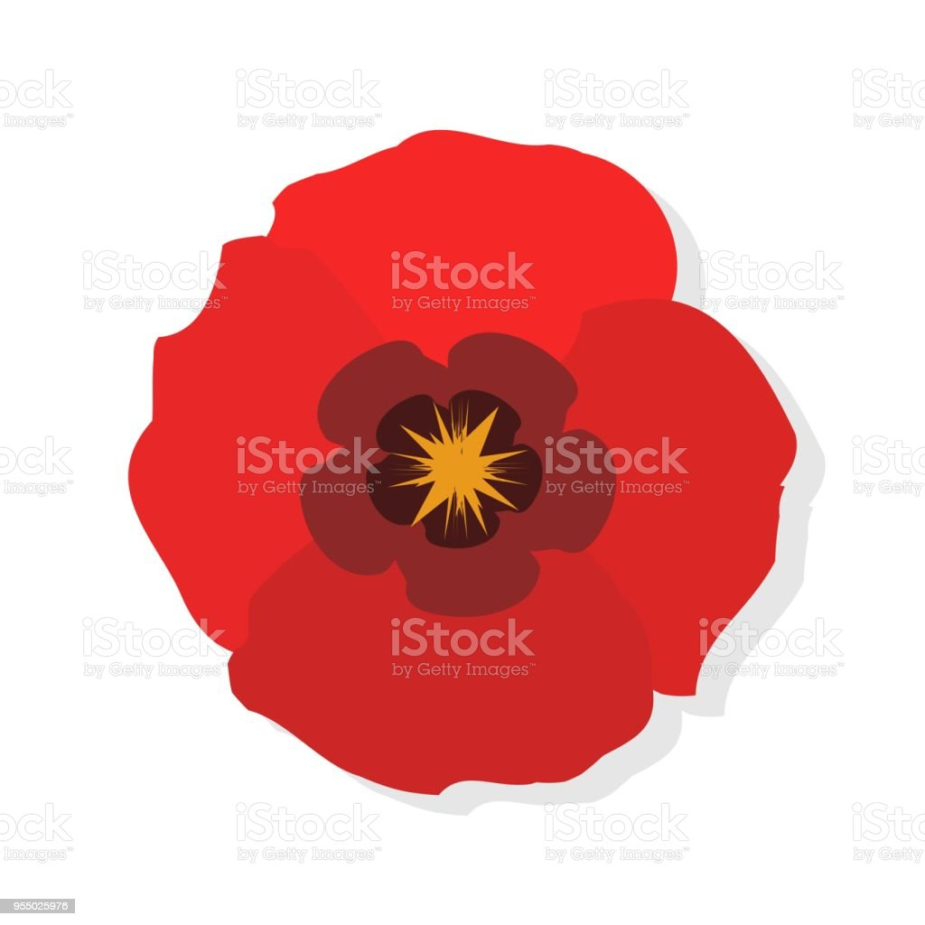 Poppy flower flat icon red poppies on white background vector poppy flower flat icon red poppies on white background vector illustration royalty free mightylinksfo