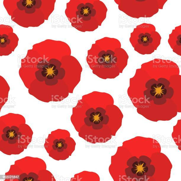 Poppy flowers seamless pattern red poppies on white background vector vector id955025842?b=1&k=6&m=955025842&s=612x612&h=4cn1kvlewynpuafqc 4jfxubbnzcqzb5eeew2u juza=