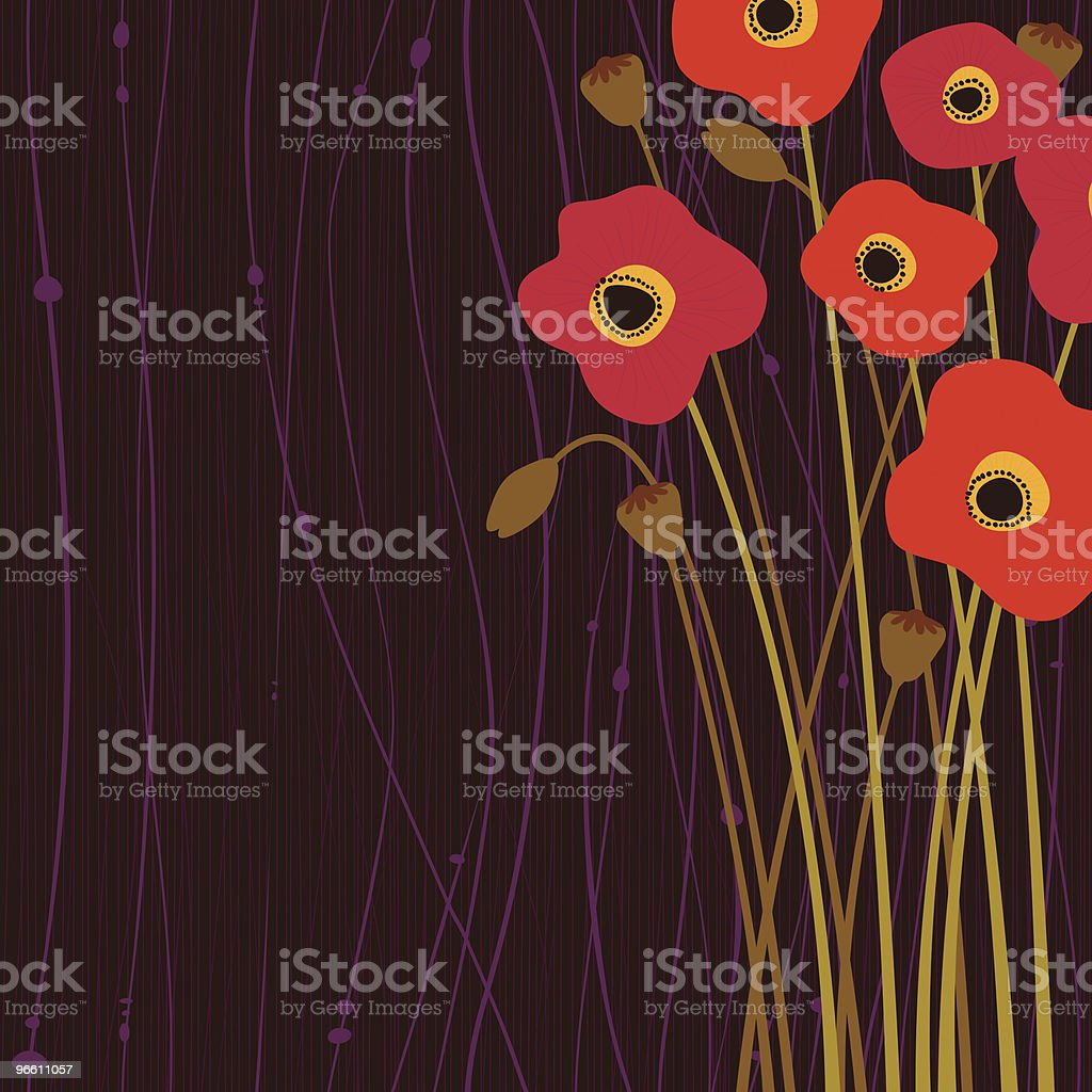 Poppy flowers royalty-free poppy flowers stock vector art & more images of backgrounds