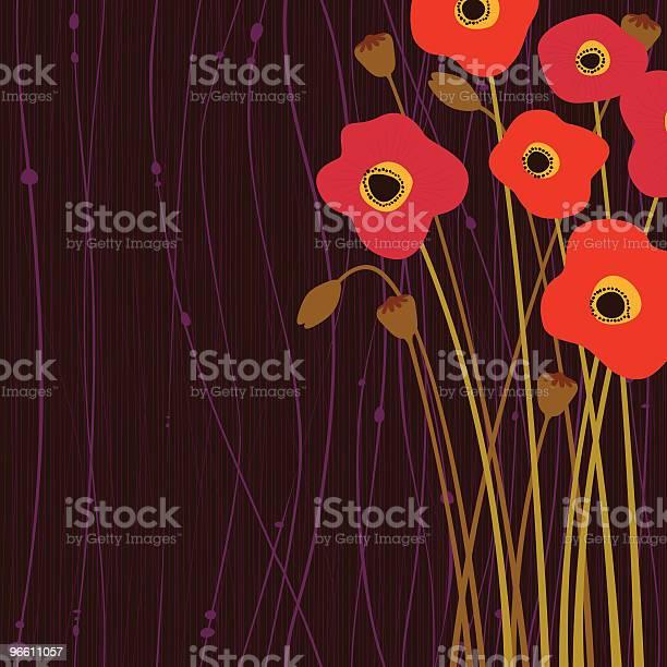 Poppy Flowers-vektorgrafik och fler bilder på Bildbakgrund