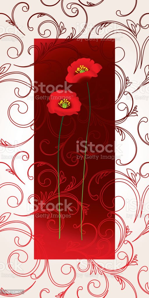 Poppy frame royalty-free poppy frame stock vector art & more images of abstract