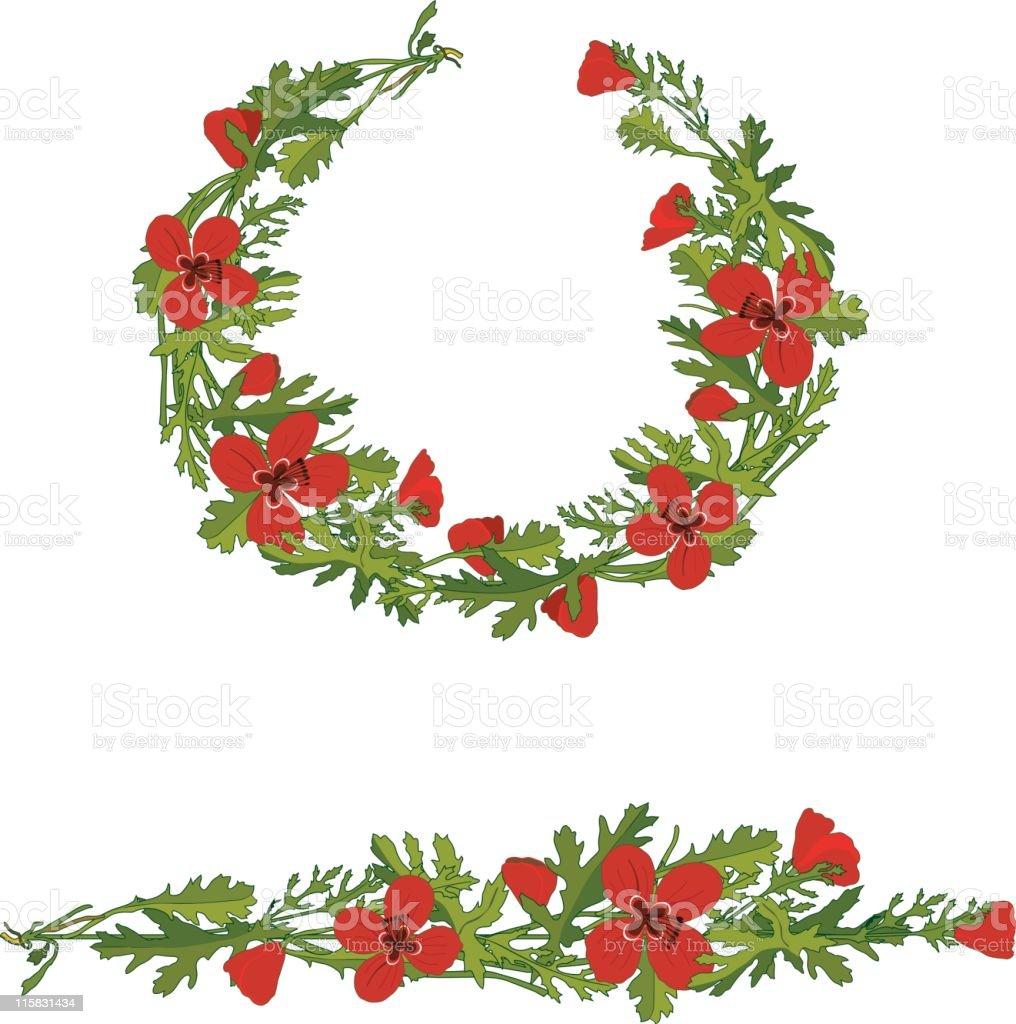 Poppy Garlands (vector) royalty-free poppy garlands stock vector art & more images of art