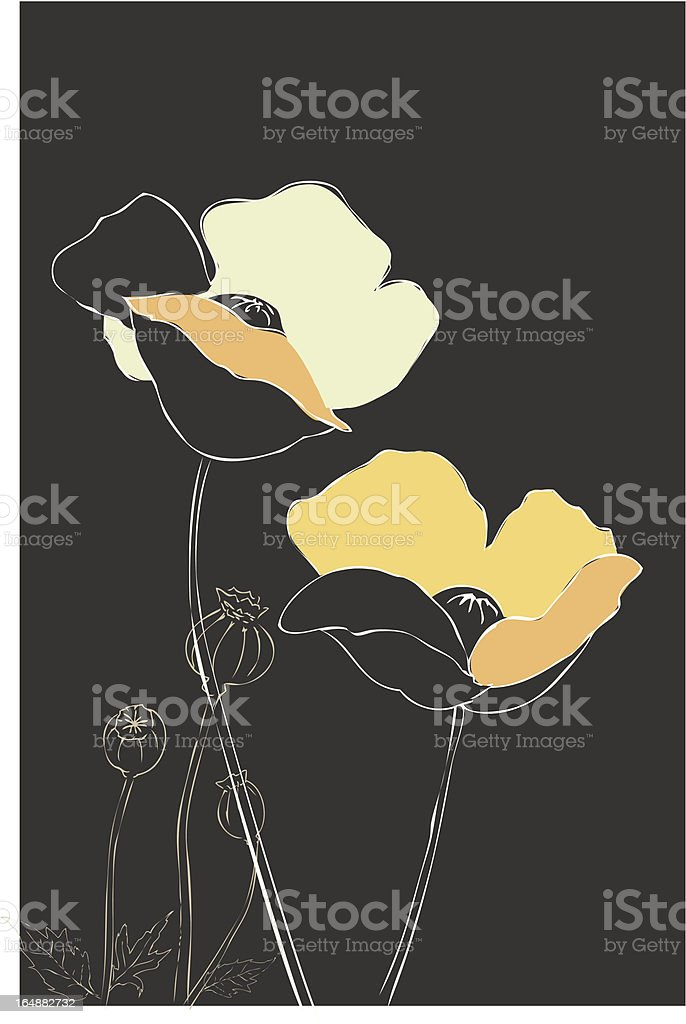 Poppy on Gray royalty-free poppy on gray stock vector art & more images of abstract