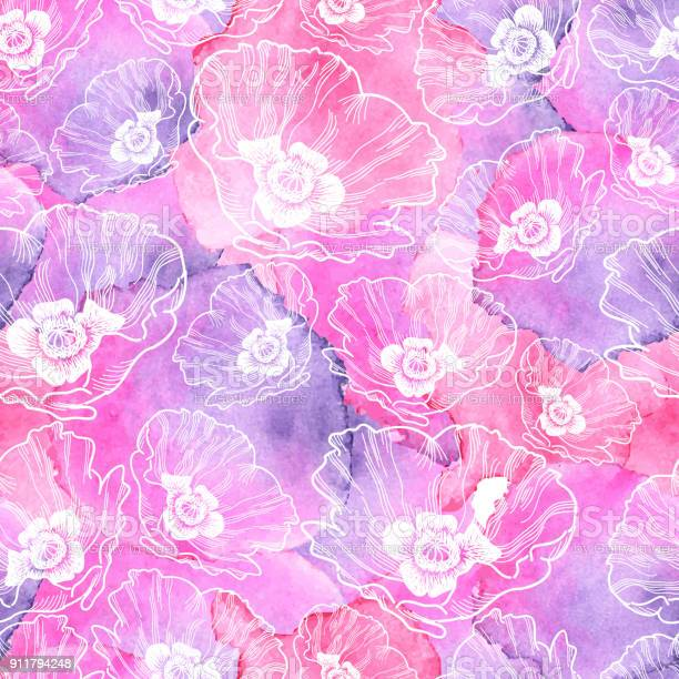 Poppy seamless vector pattern ink drawing with watercolor texture vector id911794248?b=1&k=6&m=911794248&s=612x612&h=jc0jifiag 7ufh vu3xtu4sxmrch konzomogjniu84=