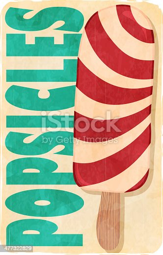 Grunge retro ice cream poster. EPS10 vector illustration, global colors, easy to modify.
