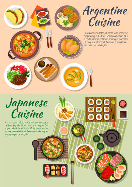 Royalty free japanese food clip art vector images for Artistic argentinean cuisine