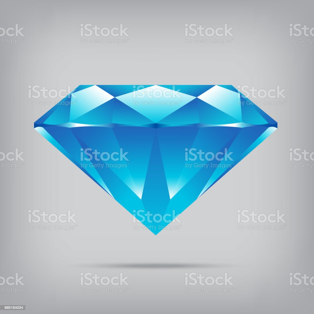 popular blue diamond isolated realistic high quality elements vector vector art illustration