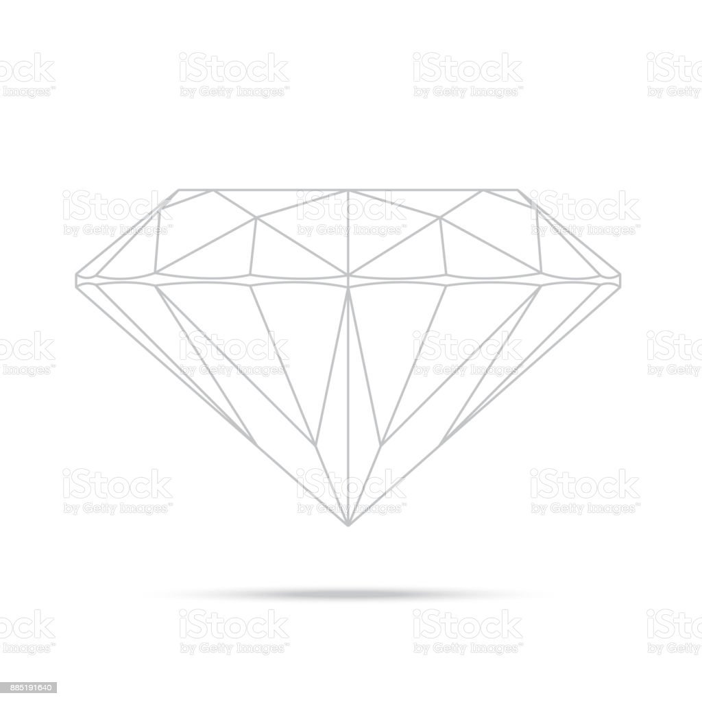 popular drawing line template diamond isolated realistic high quality elements vector vector art illustration