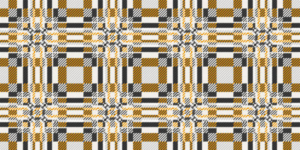Popular fashion print design for fabric or other products in 2019. Scottish cell fabric. Tartan seamless pattern. Pattern in a cell vector art illustration