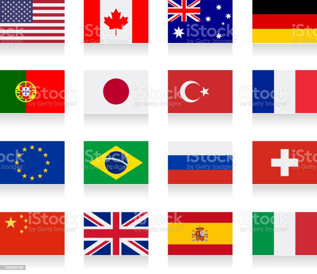 Popular flag collection royalty-free stock vector art