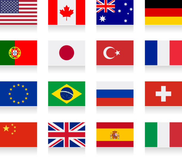 World Flags Clip Art, Vector Images & Illustrations - iStock