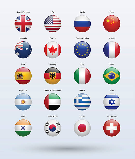 Popular Flags Collection vector art illustration