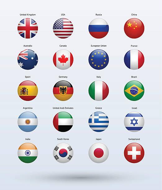 人気の旗コレクション - ユニオンジャックの国旗点のイラスト素材/クリップアート素材/マンガ素材/アイコン素材