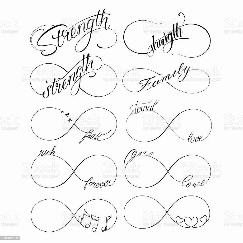 Popularne Nieskończona Zestaw Tatuaż Stockowe Grafiki