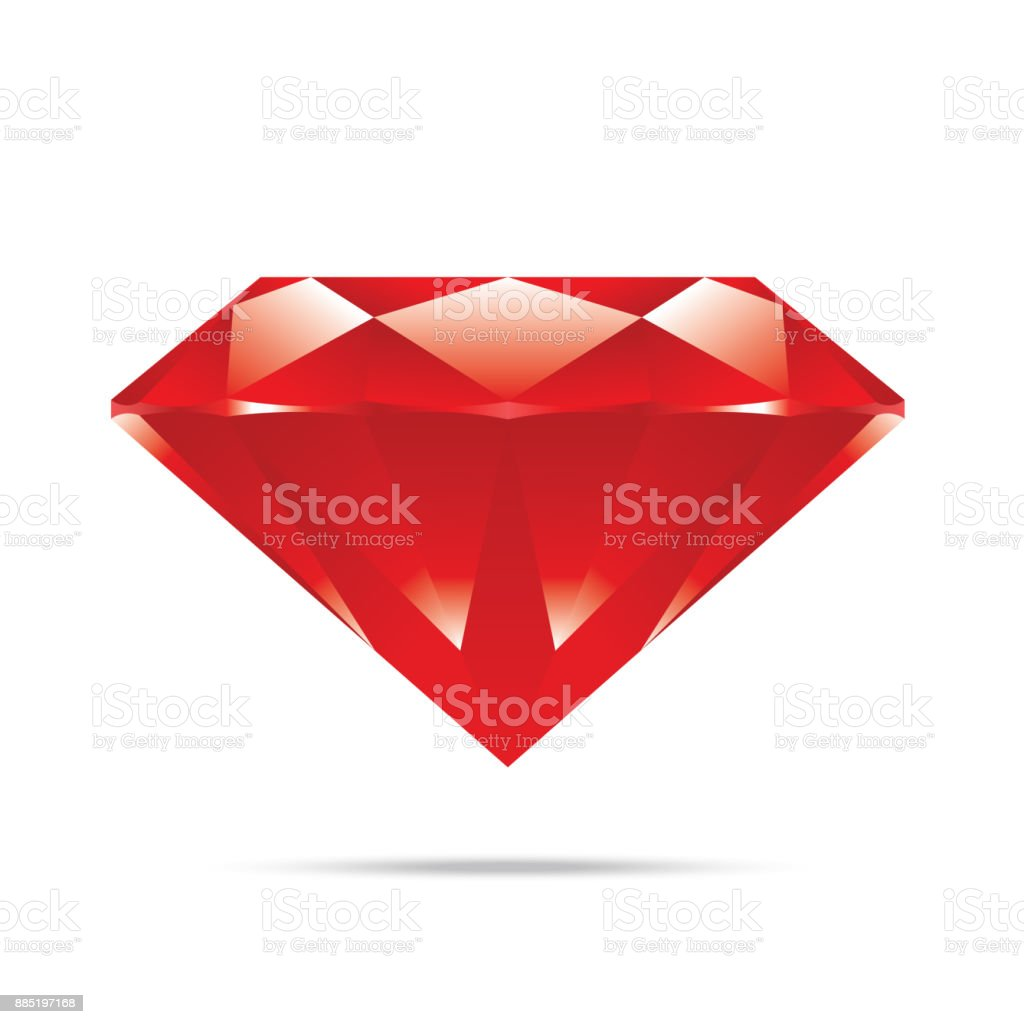 popular red diamond isolated realistic high quality elements vector vector art illustration