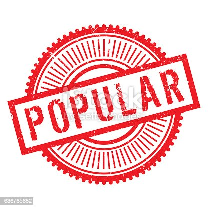 istock Popular stamp rubber grunge 636765682