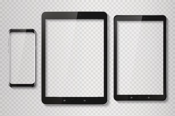 Top-modèle populaire moderne frameless smartphone et tablette. TEC - Illustration vectorielle