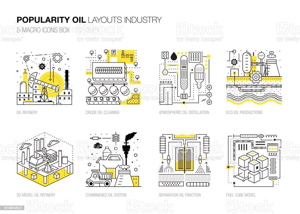 Popularität Moderne Layouts Globale Industrie In Neue Flache ...
