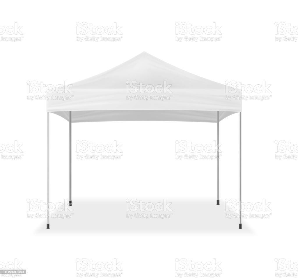 Popup Canopy Tent Vector Mockup Exhibition Outdoor Show Pavilion Mockup White Event Marquee Template For Design Stock Illustration Download Image Now Istock