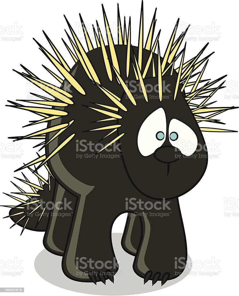 Porcupine Cartoon royalty-free porcupine cartoon stock vector art & more images of animal