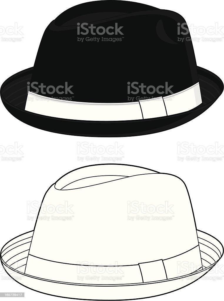 Pork Pie Fedora Hat vector art illustration