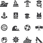 Port icons Silhouette icons