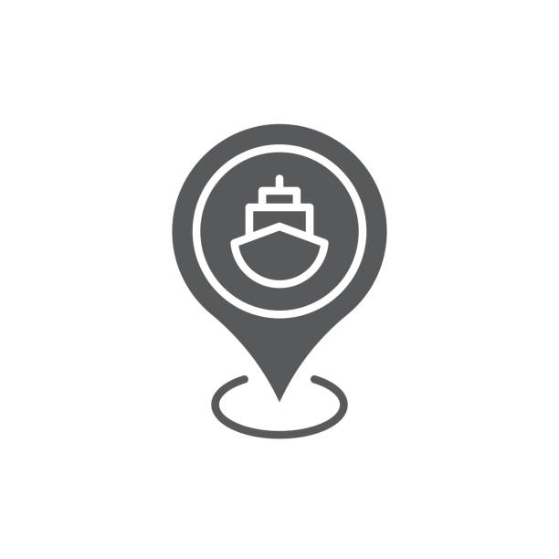 beyaz arka planda yalıtılmış bağlantı noktası konumu pin vektör simgesi simgesi haritası - start stock illustrations
