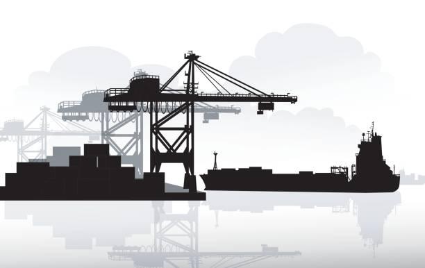 ilustrações de stock, clip art, desenhos animados e ícones de port & ship - porto