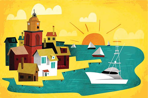 port stadt - liebesbild stock-grafiken, -clipart, -cartoons und -symbole