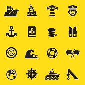 Port Yellow Silhouette icons
