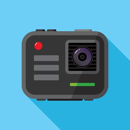 Portable Camera Icon Flat