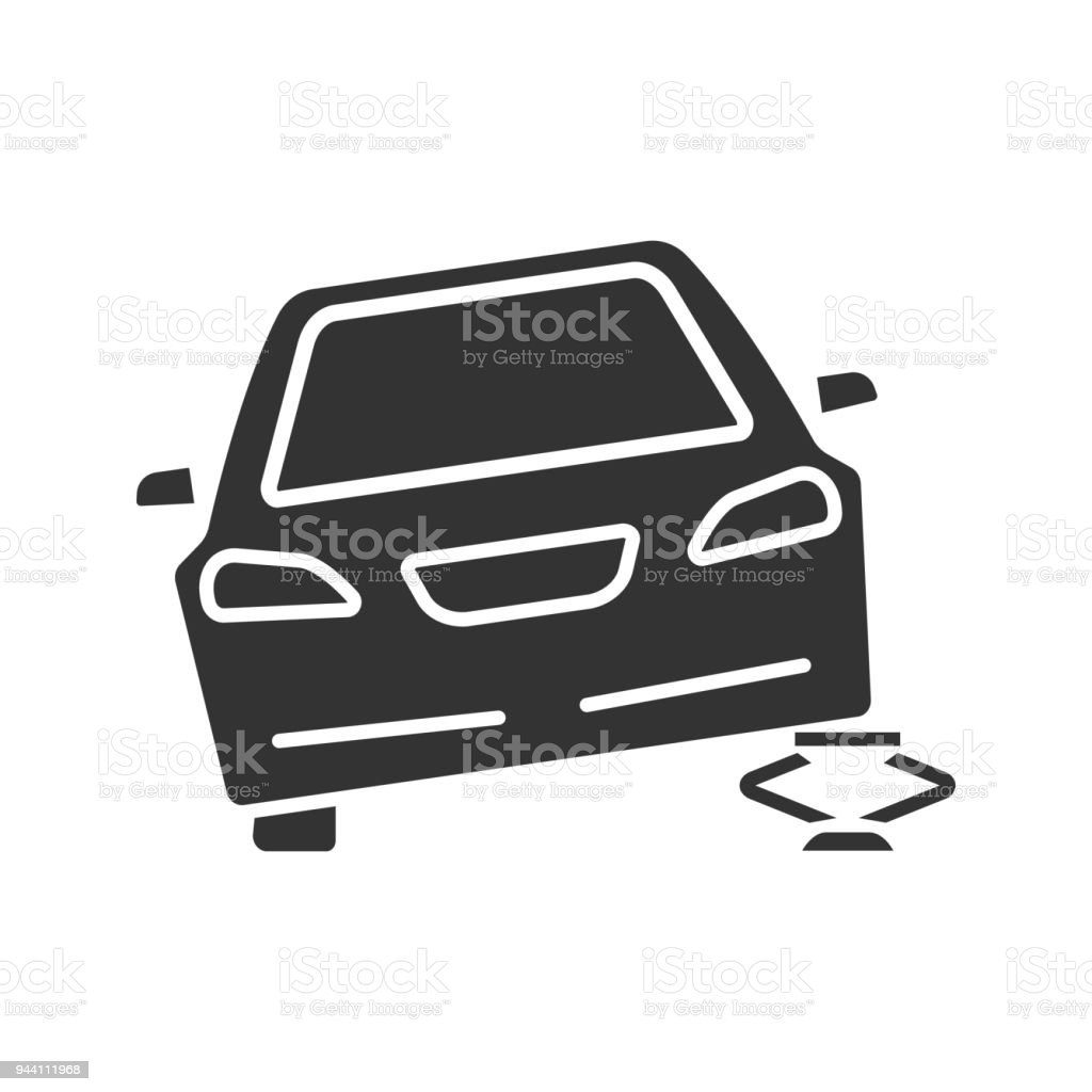 Portable Car Jack Glyph Icon Stock Vector Art & More Images