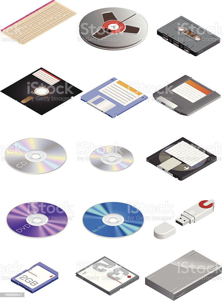 Portable Data Storage royalty-free stock vector art