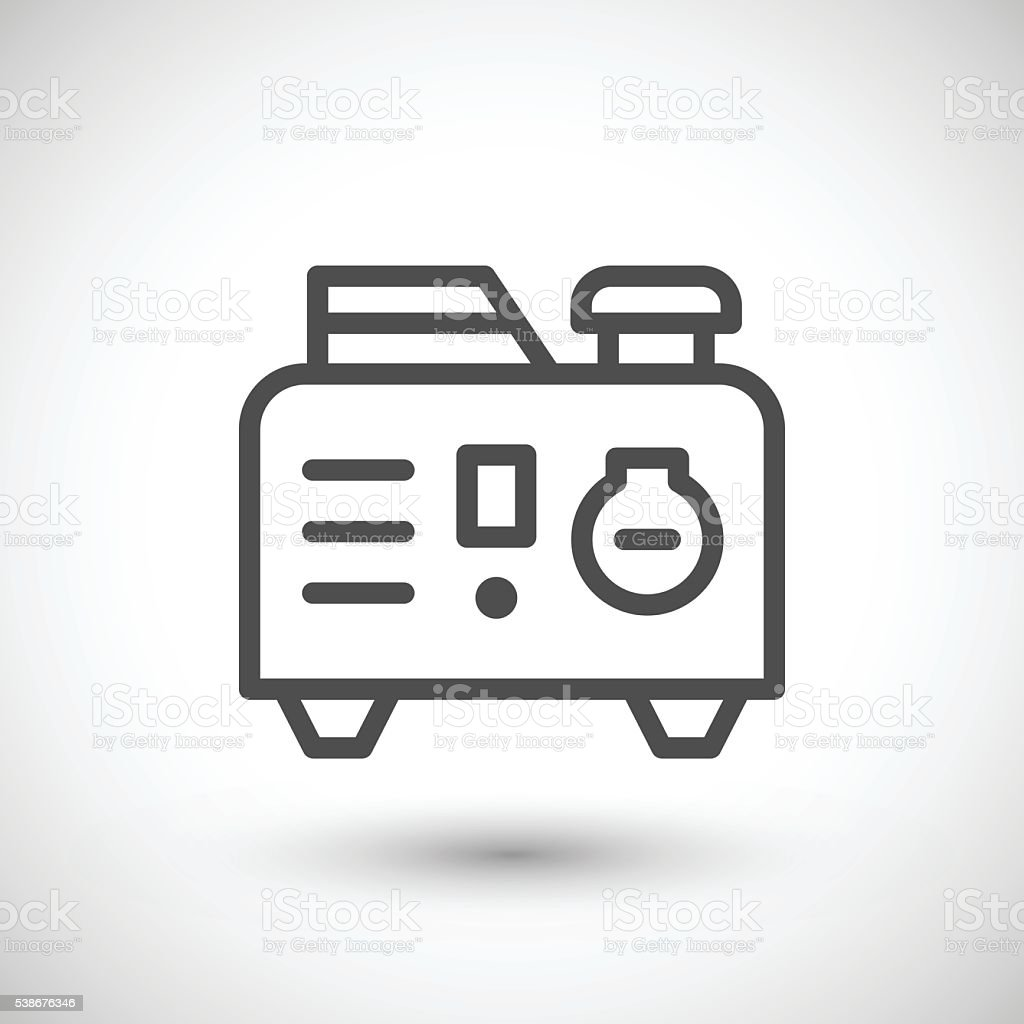 Line Art Generator From Image : Portable electric generator line icon vector art