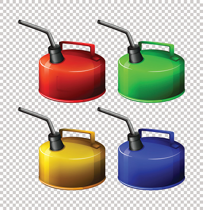 Portable gasoline tank in four colors