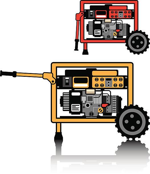 Portable generator vector art illustration