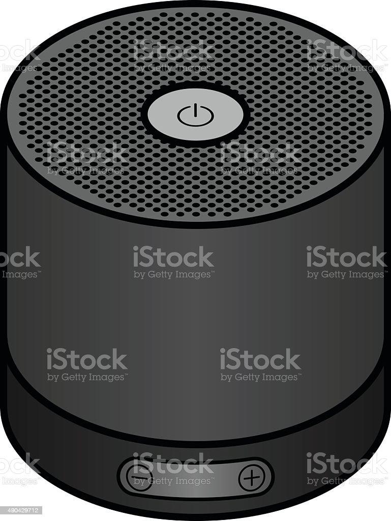 Portable speaker vector art illustration