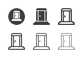 Portable Toilet Icons Multi Series Vector EPS File.