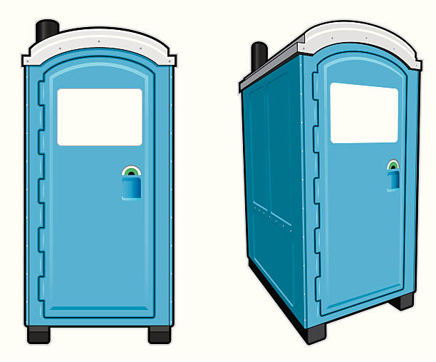 Portable Toilet Illustration of a portable toilet front view and front angle view. File is organized into layers. Download includes: EPS, PDF, JPG formats. portable toilet stock illustrations