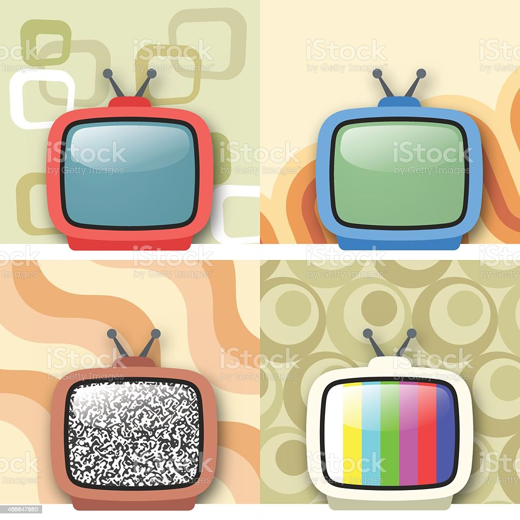 Portable TV Set vector art illustration