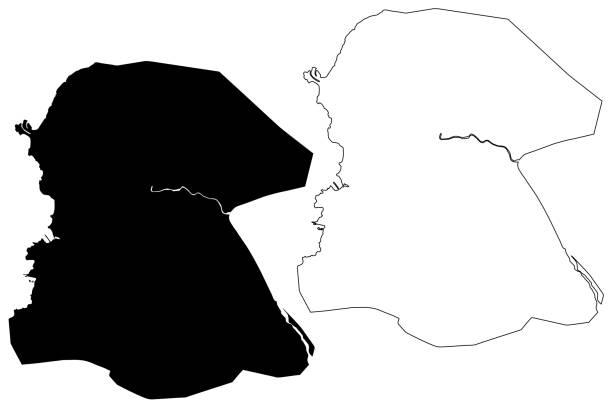 Port-au-Prince City (Republic of Haiti, Hispaniola island, Ouest department) map vector illustration, scribble sketch City of Port au Prince map Port-au-Prince City (Republic of Haiti, Hispaniola island, Ouest department) map vector illustration, scribble sketch City of Port au Prince map drawing of a haiti map stock illustrations