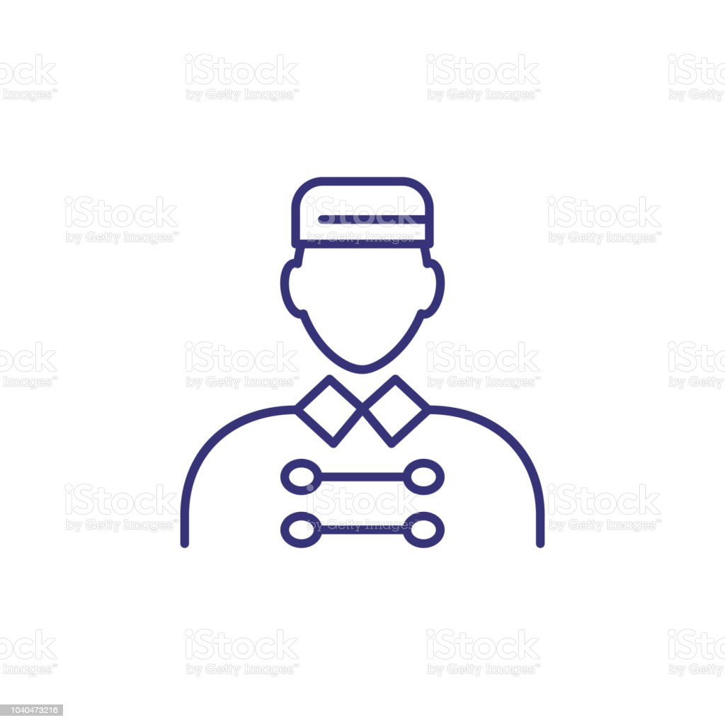 Icône de ligne porter - Illustration vectorielle
