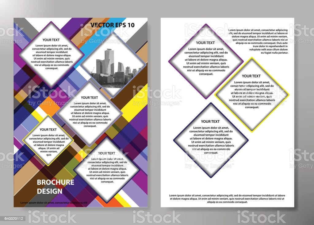 portfolio design template vector minimal brochure report business
