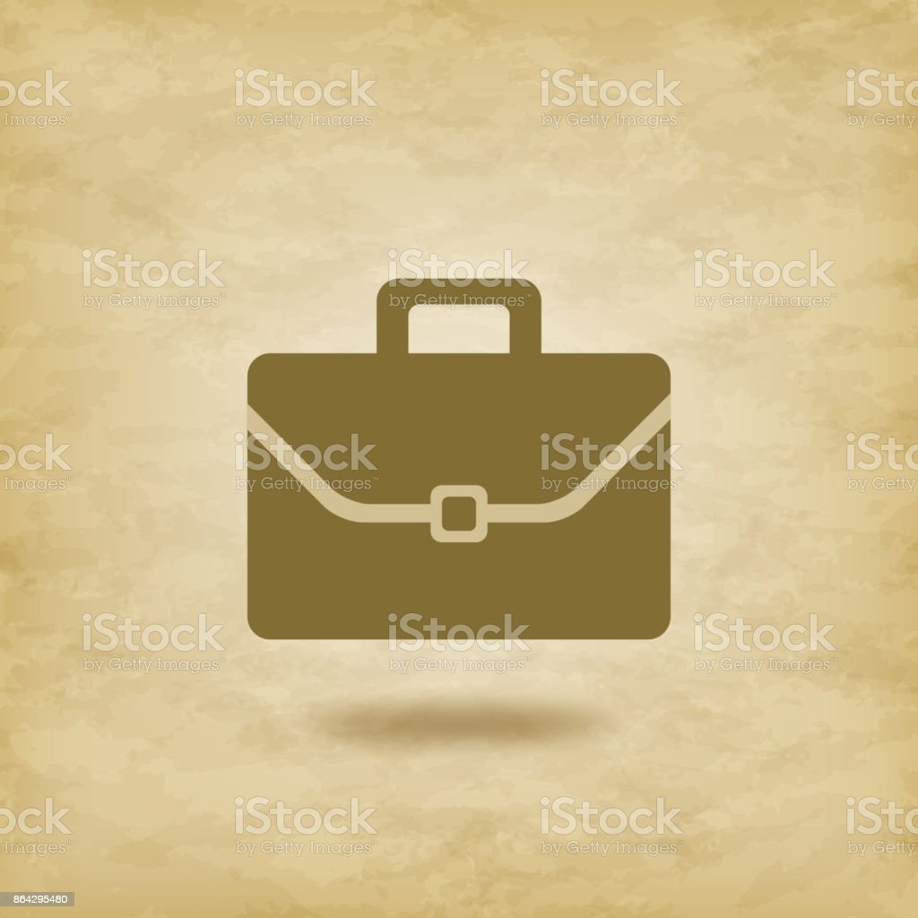 portfolio icon  grunge background 01 royalty-free portfolio icon grunge background 01 stock vector art & more images of briefcase