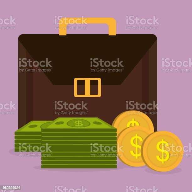 Vetores de Carteira Com Moedas E Notas De Dólares De Dinheiro e mais imagens de Antiguidades