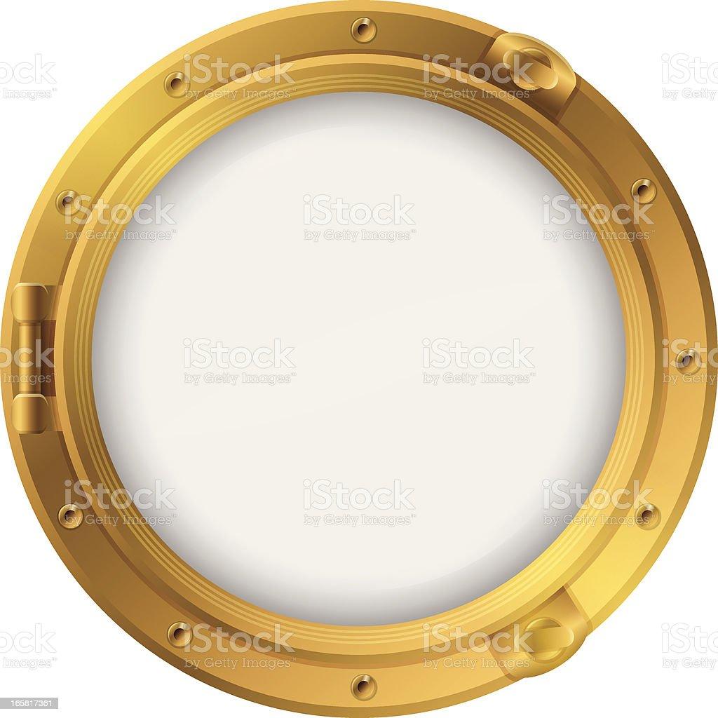 Porthole royalty-free stock vector art