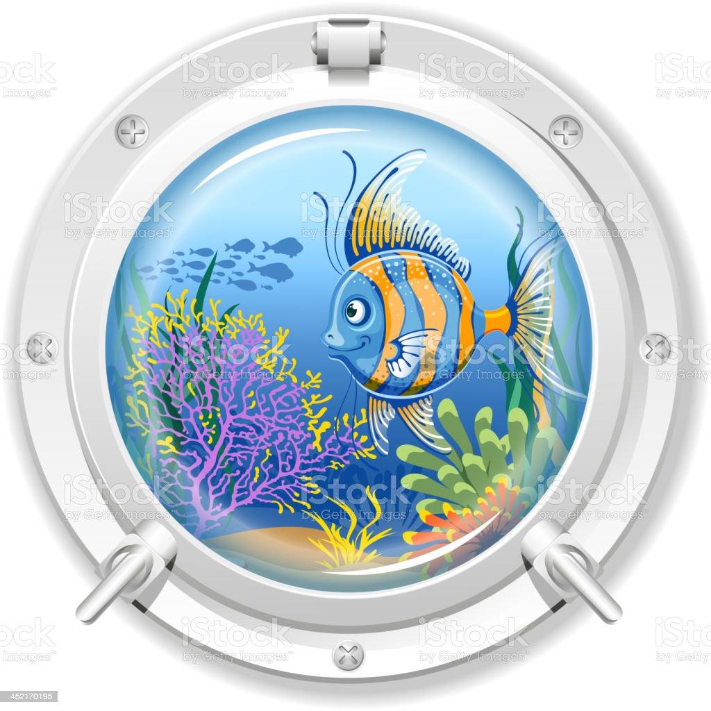 Porthole vector art illustration